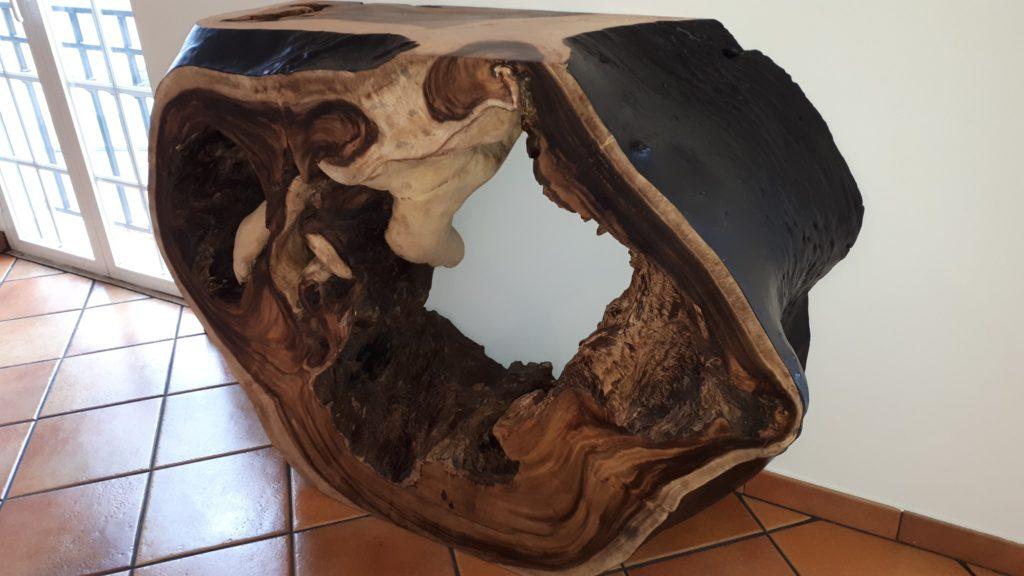 Consola em Madeira de Suar, Papiro Wood