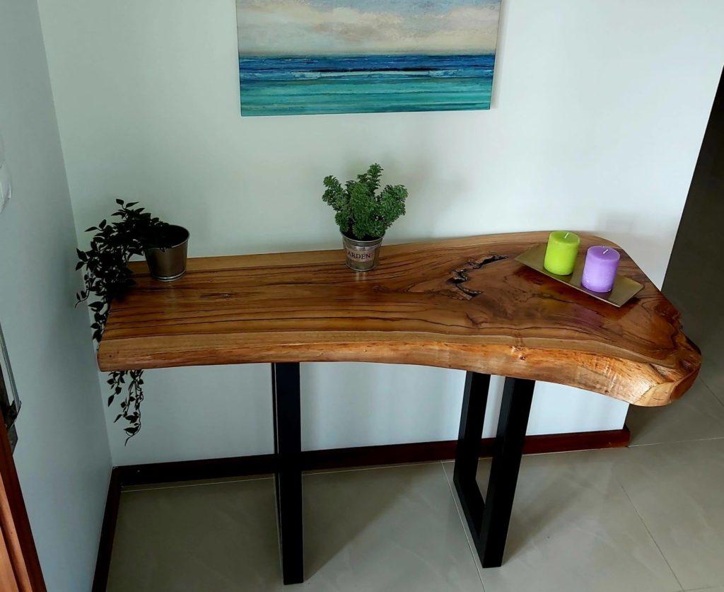 Consola em Madeira de Teca, Papiro Wood