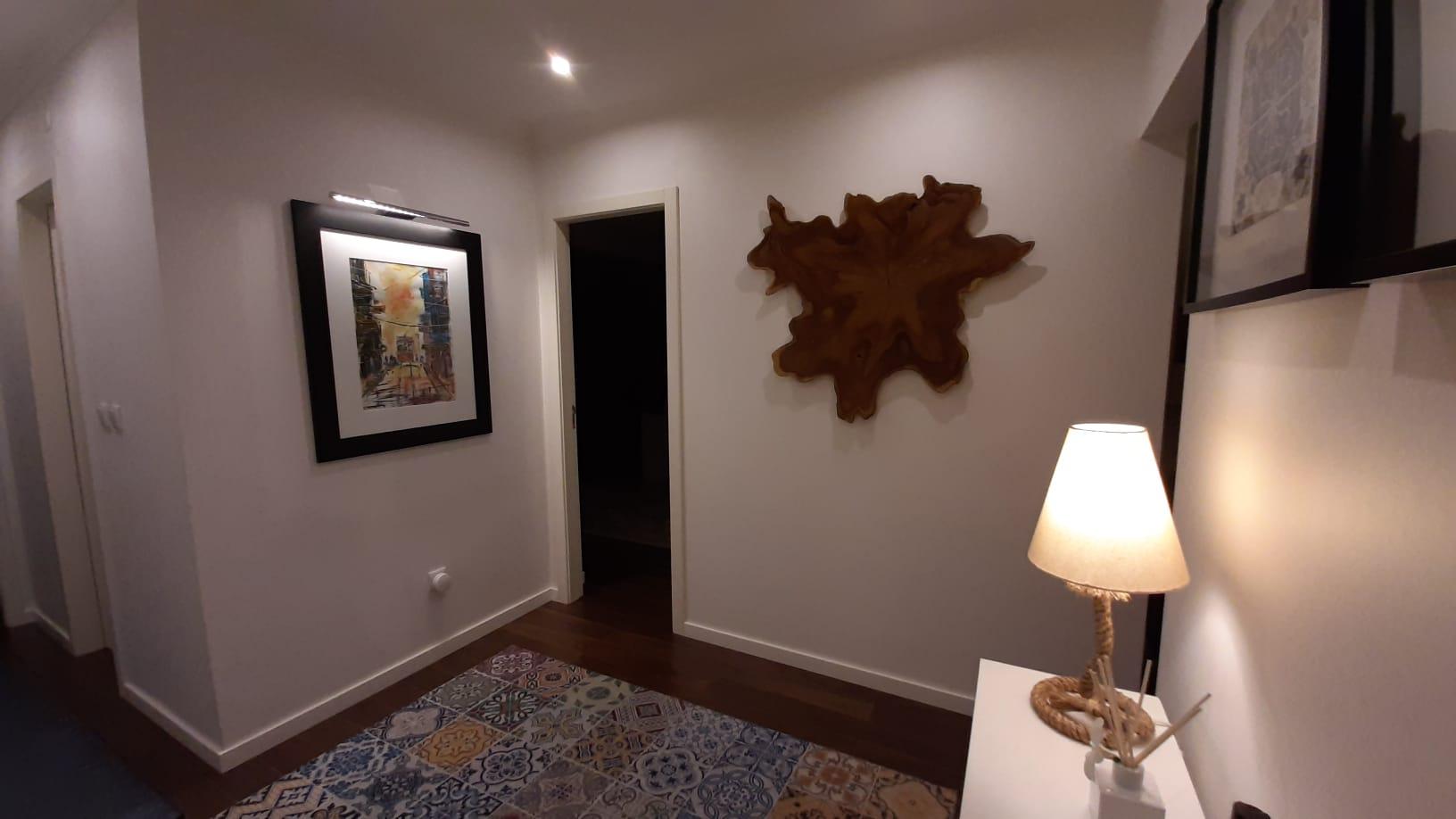 Decoração de parede em madeira de Teca, Papiro Wood
